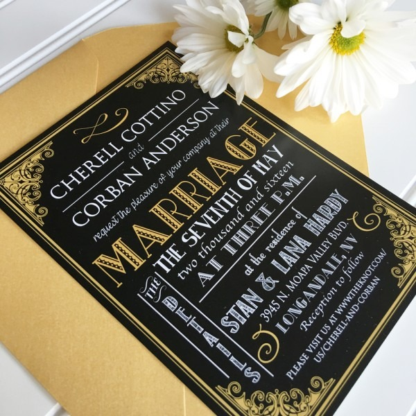Great Gatsby Wedding Invitations Great Gatsby Wedding Invitations