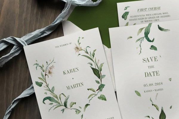 Img X Printable Templates Purple And Green Wedding Invitation