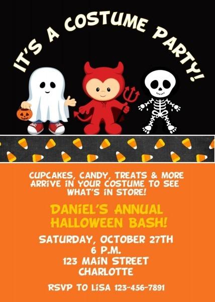 Invitation  Halloween Costume Party Invitations