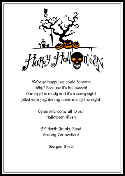 Free Halloween Invitation Templates Printable