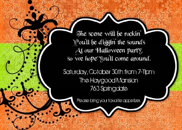 Halloween Invitation Wording Byob – Festival Collections