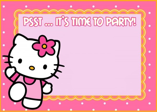 Hello Kitty Party Awesome Kitty Party Invitation Templates