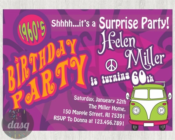 Hippie Invitations Birthday Party Il Fullxfull 733775349 Cp85