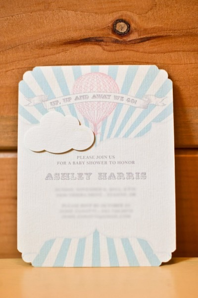 Baby Shower Invitation Template Hot Air Balloon Baby Shower