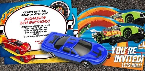 Hotwheelsinvitation Simple Hot Wheels Party Invitations