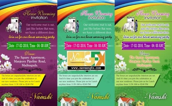 Welcome Invitation Card Psd Template For House Warming