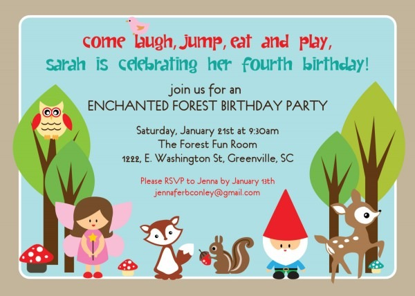 Example Of Party Invitation
