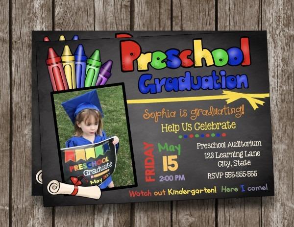 Invitation De Graduation Préscolaire Sur Mesure Photo