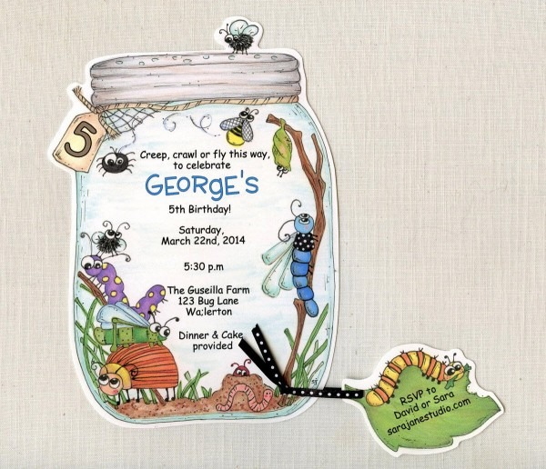 10 Bug Jar Birthday Party Invitations Summer Birthday Invite