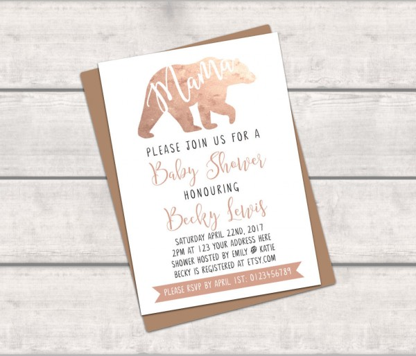 Printable Personalised Baby Shower Invitation