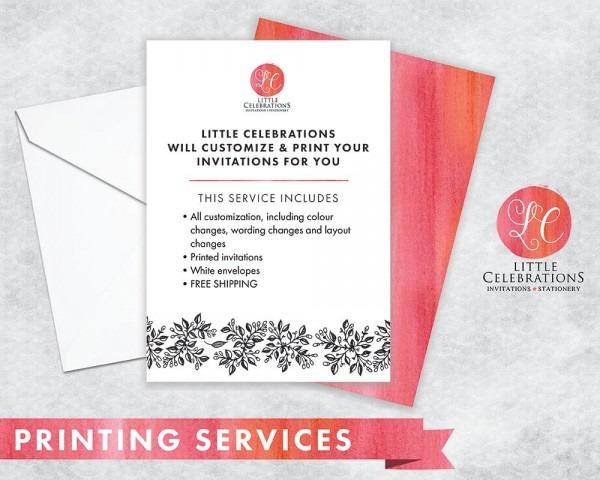 Print My Invitation Print Service For Invitations Free