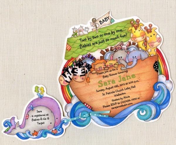 40 Noah's Ark Invitations Baby Shower Invitations