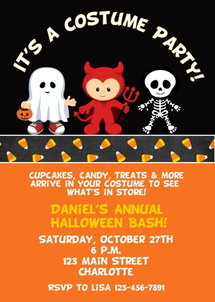 Halloween Costume Party Invitation Halloween Costume