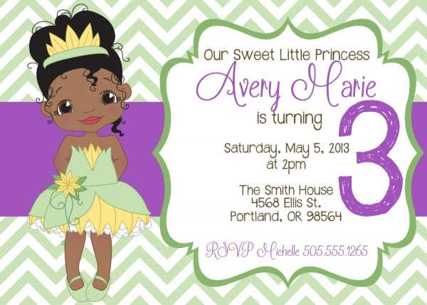 Free Princess And The Frog Birthday Invitations Template