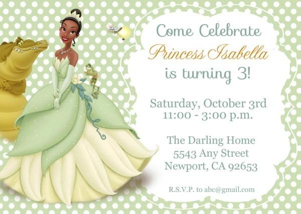 Disney Princess Invitations Free Birthday Party Invitation