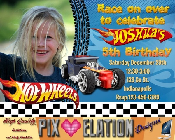 Il Fullxfull N Lovely Hot Wheels Birthday Invitation Template
