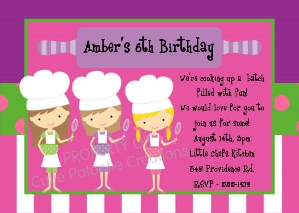 Invitation Template  Free Baking Party Invitation Templates
