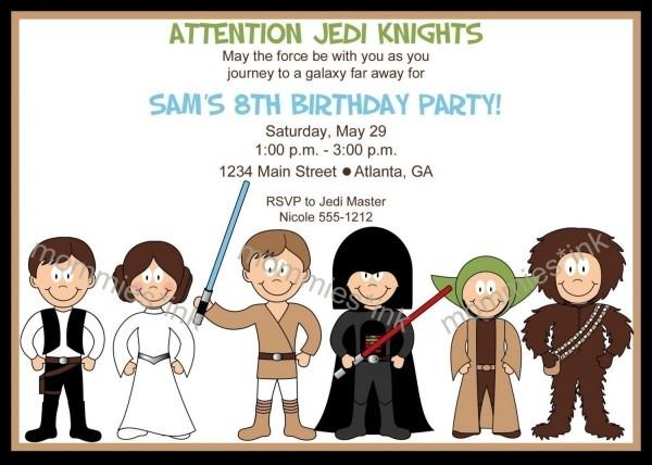 Yellow Coloured Bb Star Wars Birthday Party Invitations Fresh Star