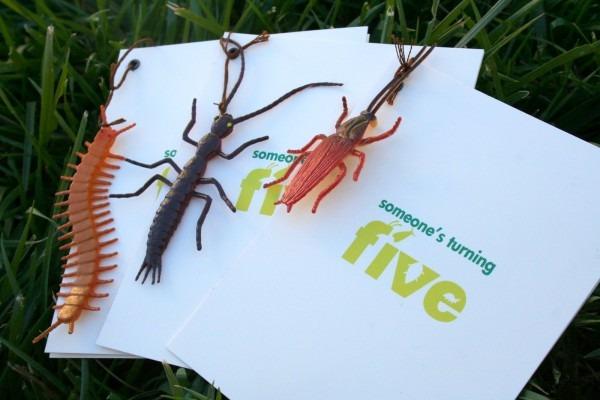 Creepy Bug Birthday Invitations