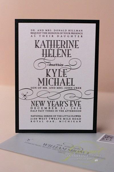 Kathryn + Kyle  New Years Eve Wedding Invitations
