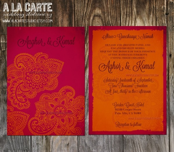 Innovative Indian Wedding Invitations Indian Wedding Invitation