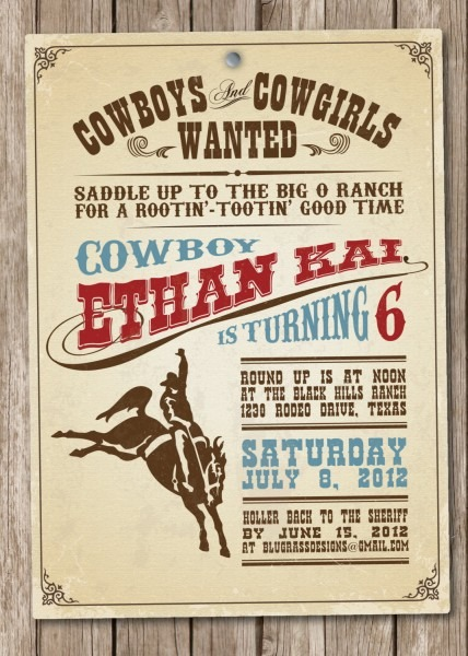 Inspirational Western Party Invitation Wording