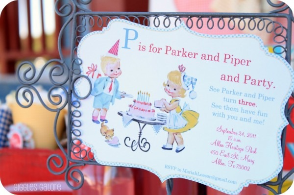 P Is For Party {vintage Birthday Party}