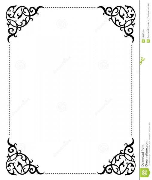 Invitation Border   Frame Stock Vector  Illustration Of Decorative