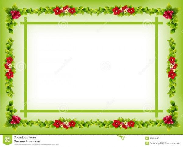 Invitation Card Border Frame Stock Illustration