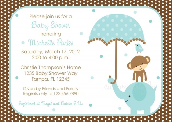 Invitation For Baby Boy Shower From Clipart Library To Get Ideas