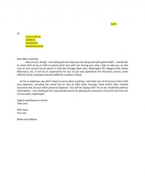 B1 Visa Invitation Letter Template – Kucin