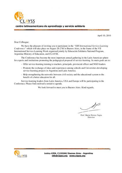 2019 Invitation Letter Sample
