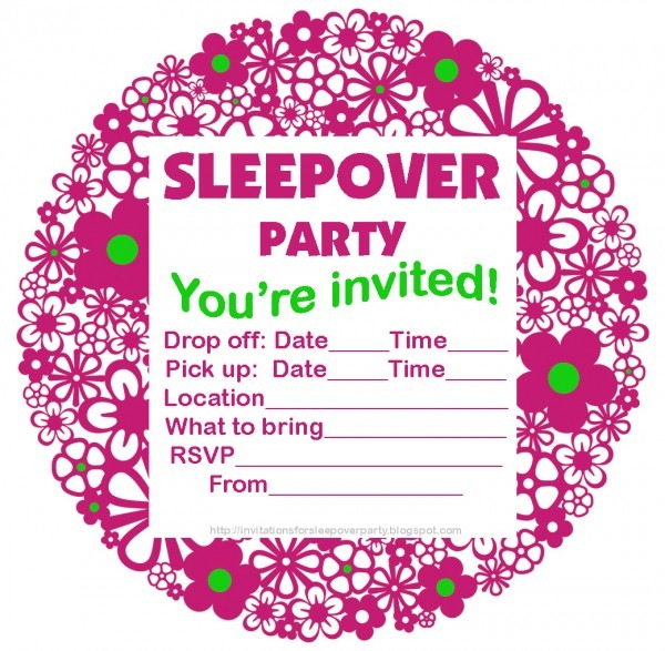 Invitation To Slumber Party Great Invitations For Sleepover Party