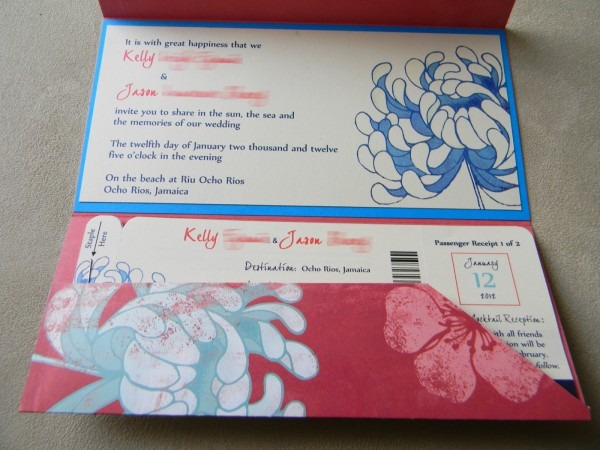 Diy Boarding Pass Wedding Invitations – Part Two  The Insides