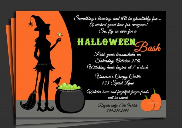 Invite Wording For Halloween Party