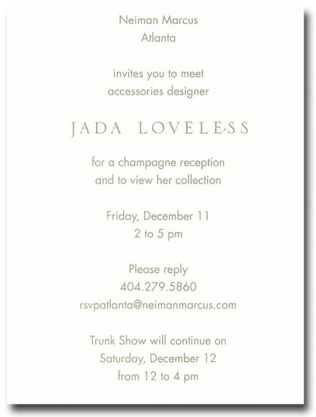 Holiday Trunk Show At Neiman Marcus Atlanta