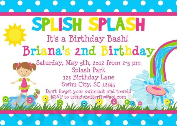 Sample Birthday Party Invites
