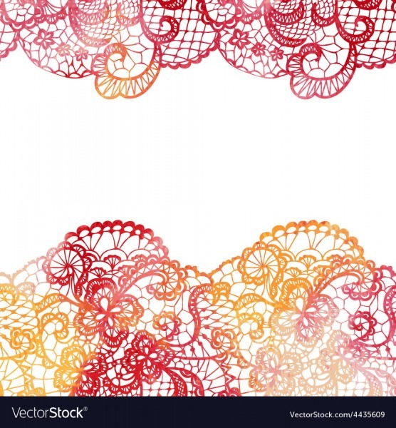 Lacy Elegant Border Invitation Card Royalty Free Vector