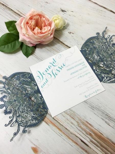 Laser Cut Wedding Invitation Enclosure, Cd Sleeves, Thank You Cd