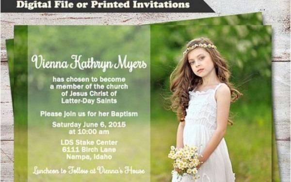 Lds Baptism Invitation Ideas
