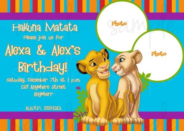 Lion King Party Invitations Superb Lion King Birthday Invitations