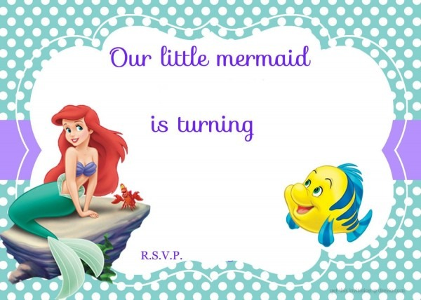 Little Mermaid Birthday Invitations Wording Ariel In 2018