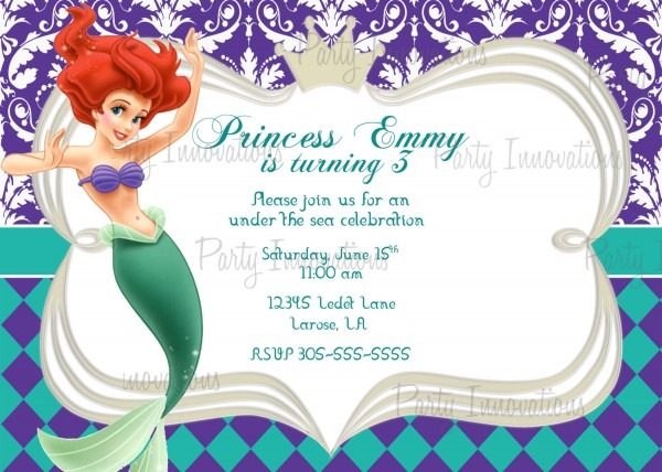 Little Mermaid Birthday Invitation Template Inspirational Best