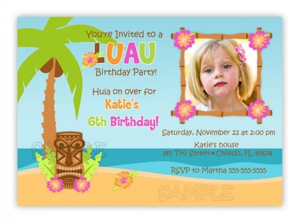 Luau Birthday Invitations Templates Ideas