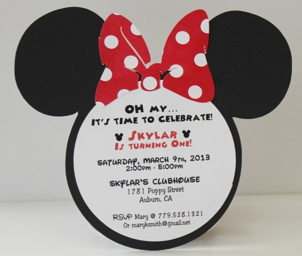 Luxury Minnie Mouse Sayings For Birthday Invites