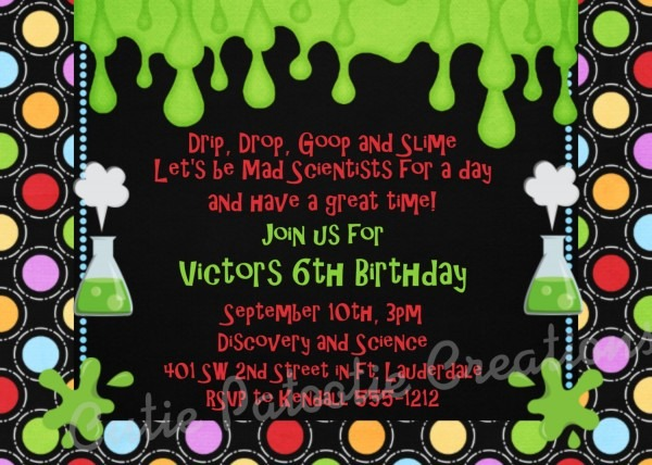 Mad Science Birthday Invitation Fresh Mad Scientist Party