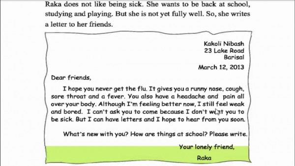 How To Write A Letter To Your School Friend In English