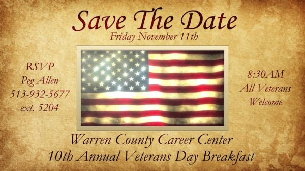 2016 Veterans Day Breakfast Invitation