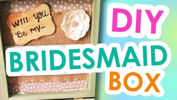 Diy Bridesmaid Invitation Boxes