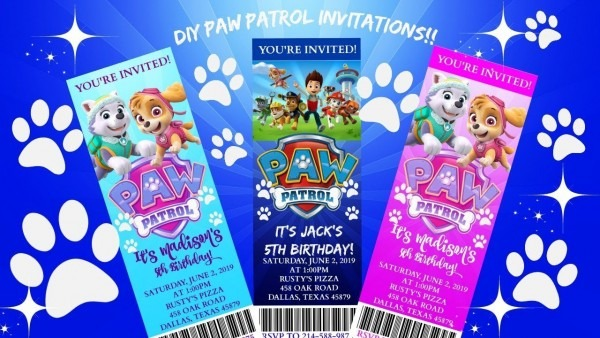 Diy Paw Patrol Birthday Invitations!!! Paw Patrol Birthday!